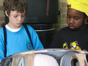boys in steelband in Austin