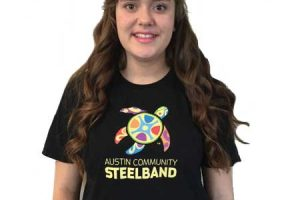 black steelband logo tshirt